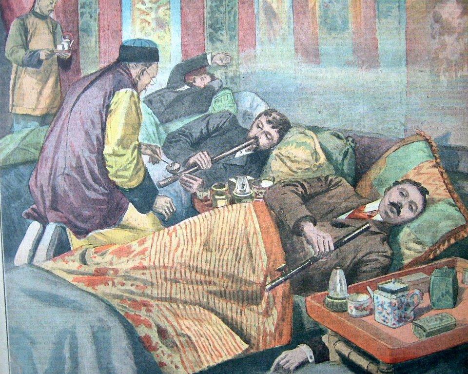 Smoking of Opium