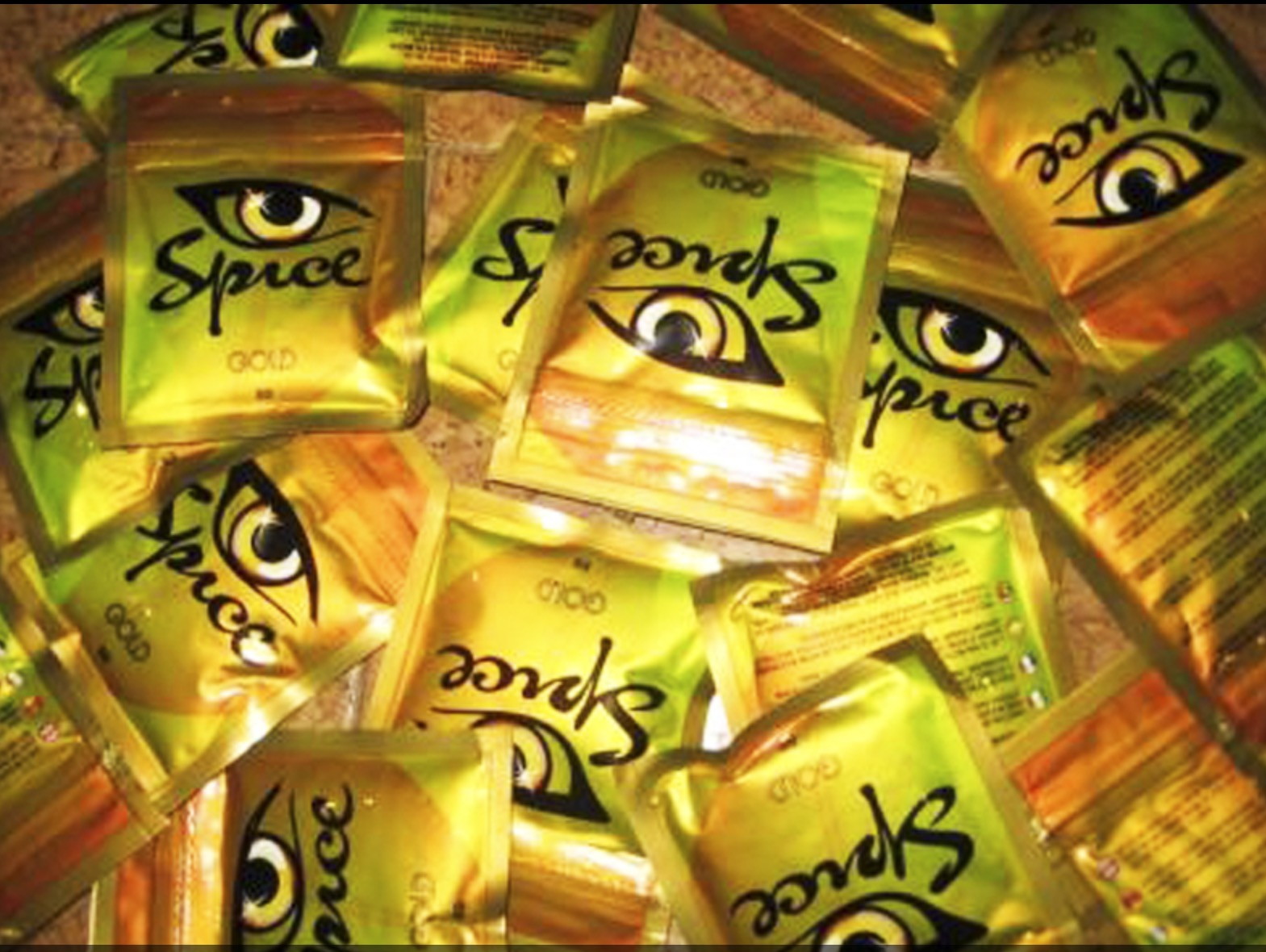 Spice Gold. Synthetic marijuana.