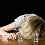 Woman alcoholic