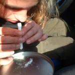 Sniffing amphetamine