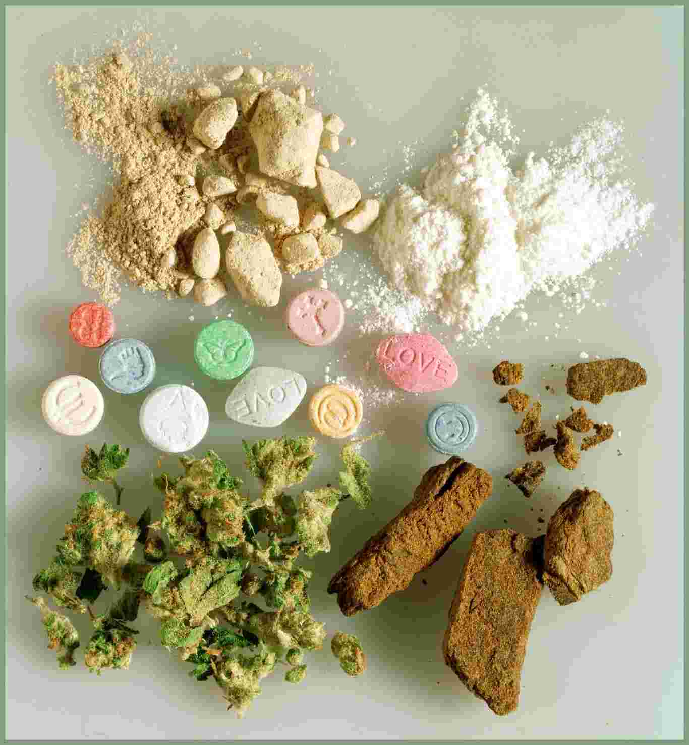Harmful drugs. Different types of drugs .