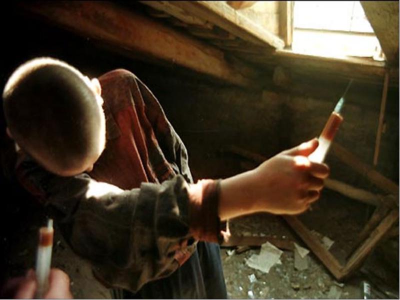 Children's drug addiction.