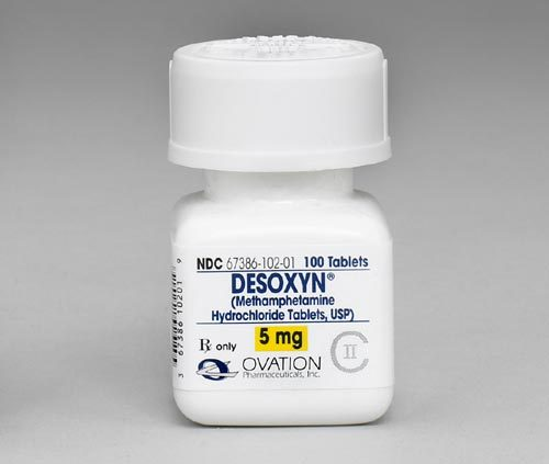 Medical Methamphetamine - Desoxyn (Methamphetamine Hydrochloride Tablets, USP, 5 mg, OVATION, 100 Tablets, R only)