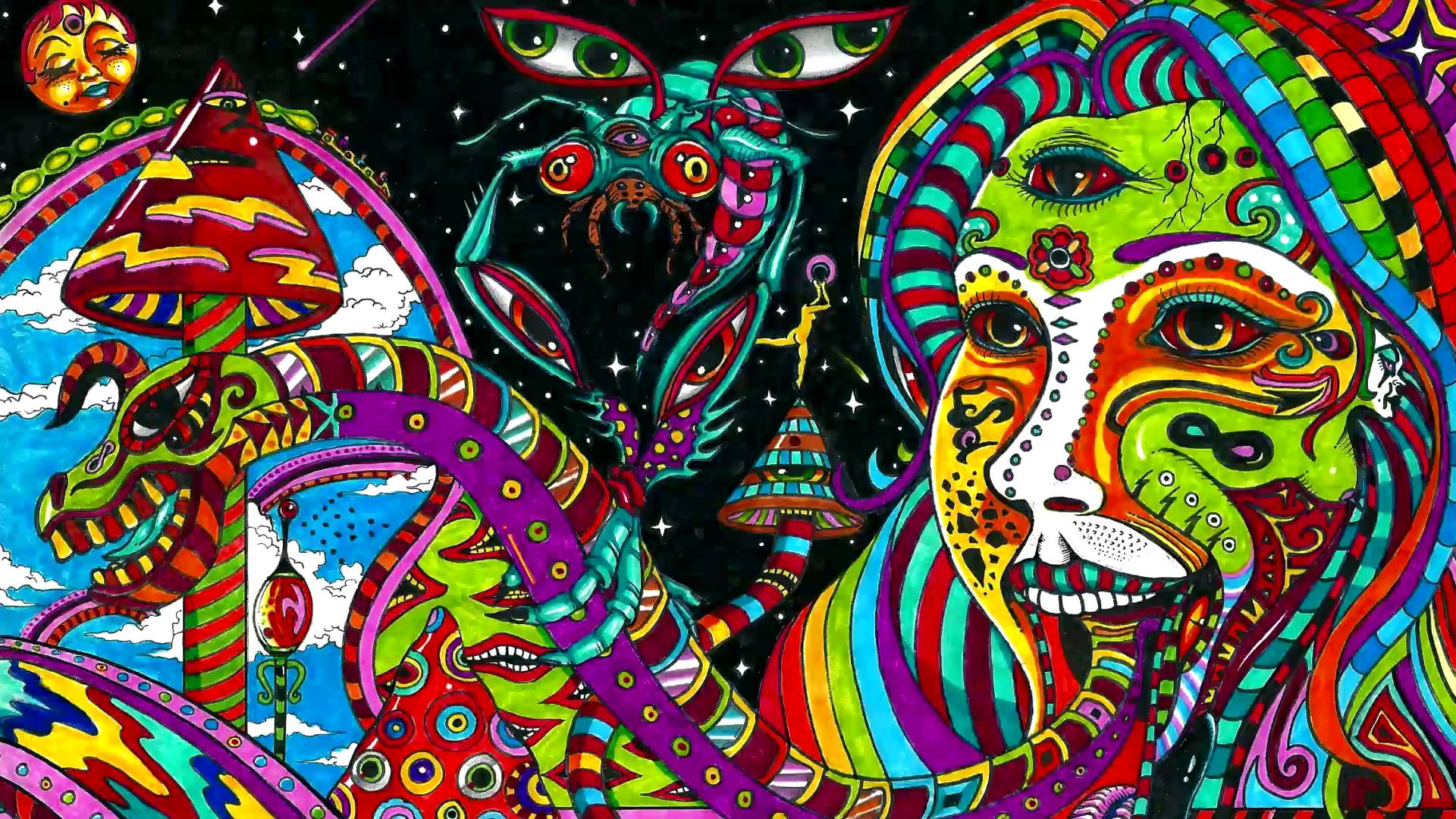 Hallucinations under the influence of an acid 1