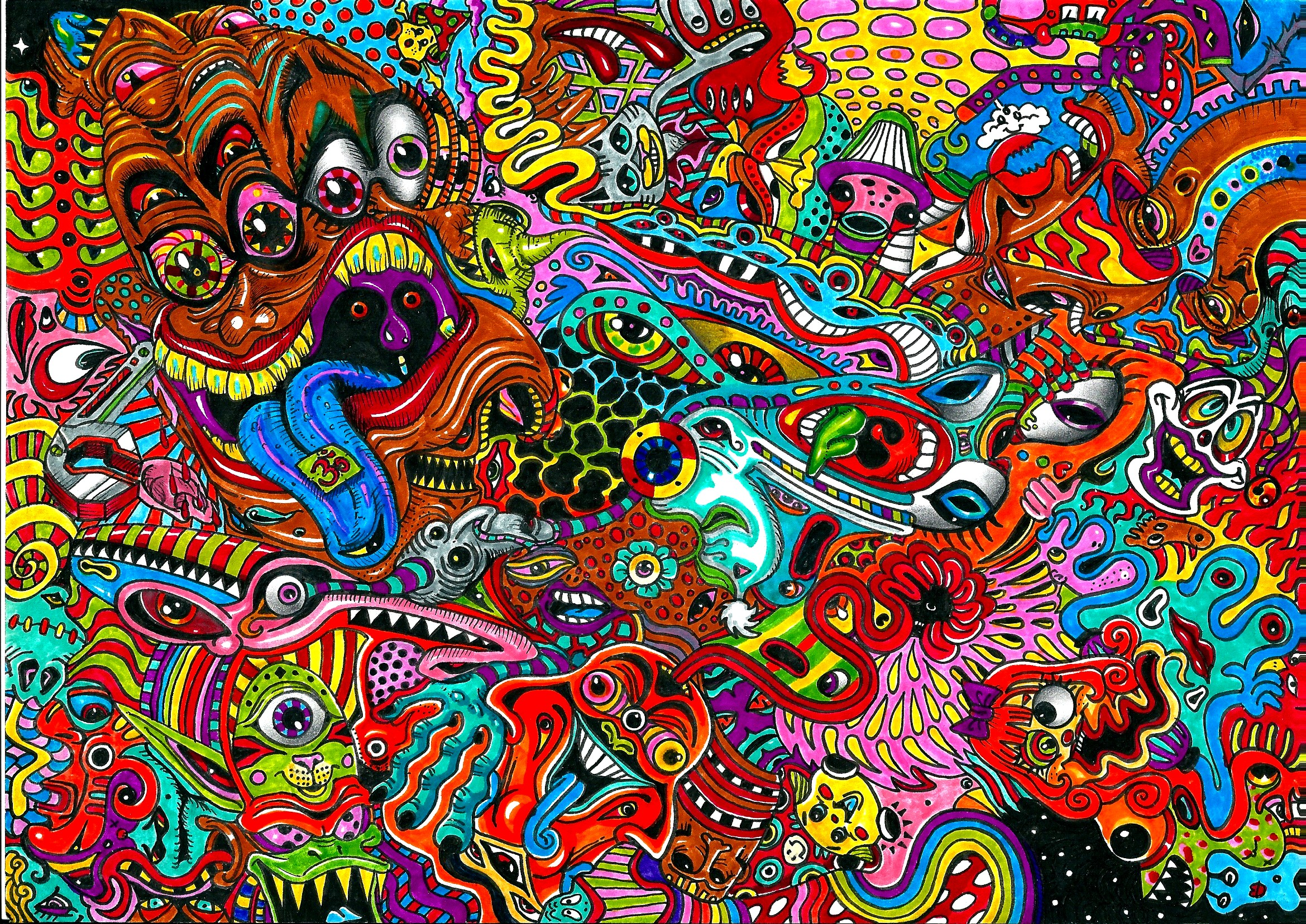 Hallucinations under the influence of an acid 2