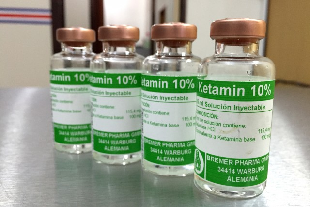 Ketamine. A synthetic compound used as an anesthetic and analgesic drug and also (illicitly) as a hallucinogen.
