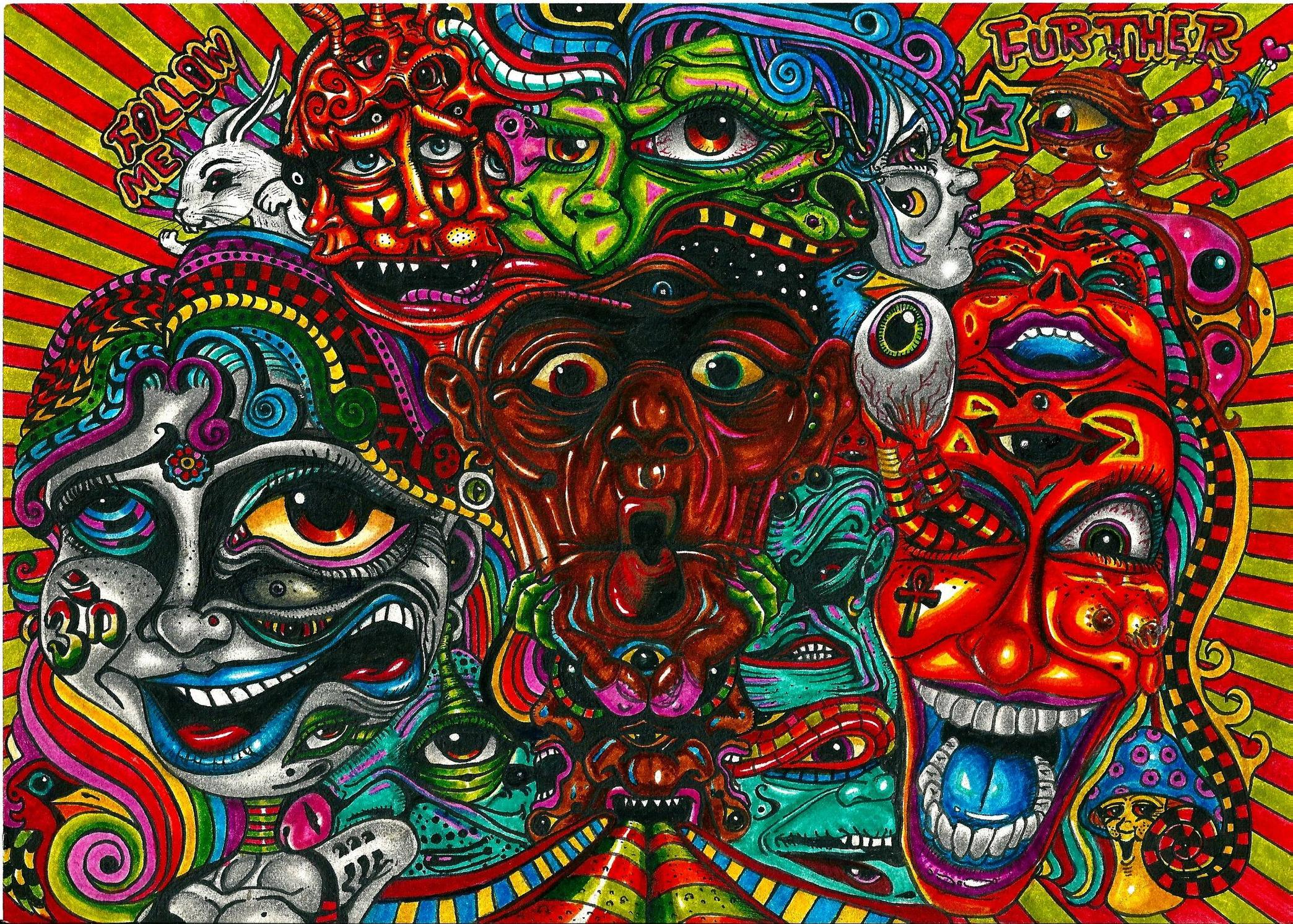 LSD (ACID drug) Pictures. Part 1. : LSD-trip 1