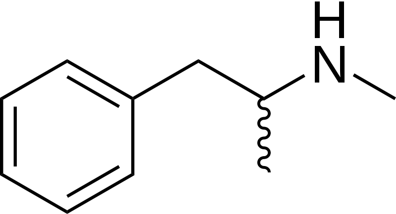 chemical Molecular formula of methamphetamine 1