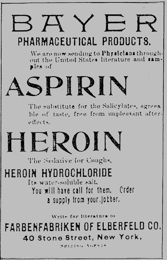 heroin was used as medicine earlier