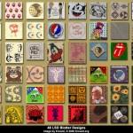 Types of marks LSD 3. Photo LSD, acid drug.