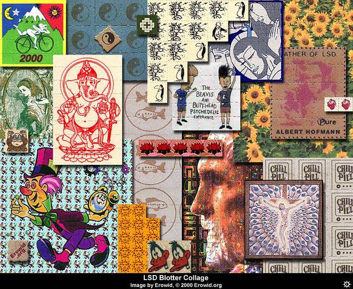 Types of marks LSD 4. Photo LSD, acid drug.