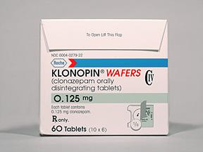 Klonopin tablets (clonazepam)